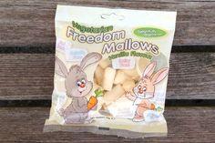 Freedom Mallows vegan marshmallows - London stockists = Harvey Nichols, VX Vegan Cross, Goodness Goodies, Ms Cupcake