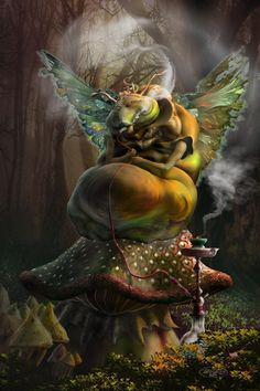 CATERPILLAR FROM WONDERLAND BY SPOOFDECATOR - TERA LEWIS