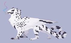 Gyr by QuillCoil on DeviantArt Mythical Creatures Art, Lovely Creatures, Magical Creatures, Fantasy Creatures, Cute Animal Drawings, Animal Sketches, Creature Concept Art, Creature Design, Pokemon