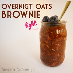 Receitas de Dieta: Overnight Oats Light de Brownie