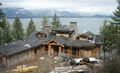 Waterfront home under construction on Lake Pend Oreille in North Idaho. Where would you build a custom home?