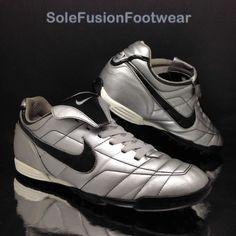 776e4799dd2f54 Nike Mens TIEMPO Natural Football Trainers Silver Black sz 10 Astro Turf  Shoe 45