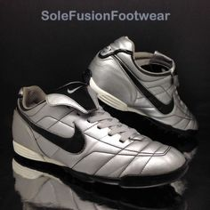 0bc890683 Nike Mens TIEMPO Natural Football Trainers Silver Black sz 10 Astro Turf  Shoe 45