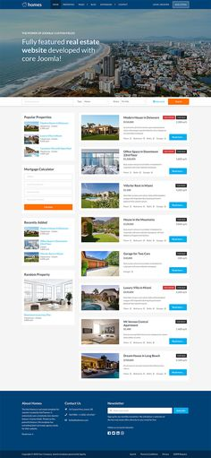 The Hot Homes is a for It extensively uses a relatively new Joomla! Real Estate Templates, Joomla Templates, Real Estate Agency, Fields, Homes, Beach, Travel, Houses, Viajes