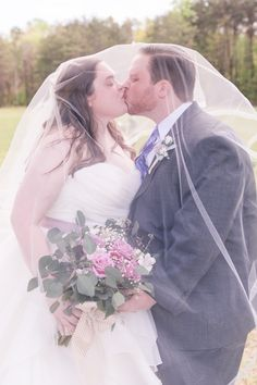 I'm so glad I decided to wear a veil. It was like kissing under a sheer blanket fort!