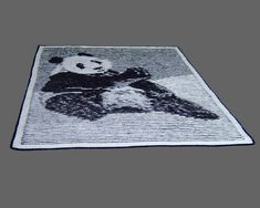 Panda Illusion Knit PDF pattern by woollythoughts on Etsy Knitted Afghans, Knitted Baby Blankets, Easy Craft Projects, Craft Ideas, Afghan Blanket, Knitting Designs, Yarn Crafts, Baby Knitting, Knitting Patterns