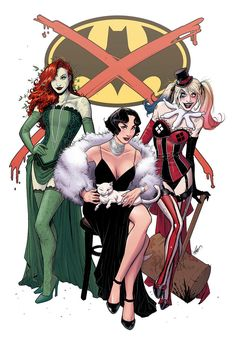 "comic-book-ladies: ""Gotham City Sirens by Rodrigo Fernandes """