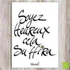 Carte postale « Soyez heureux» illustrée par Folisabelle