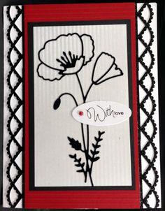 perky poppy card