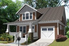 Efficient craftsman style bungalow.  Plan 461-25.