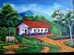 ARTE ECOLÓGICO VILMA: ACUARELAS--CASONAS TIPICAS DE COSTA RICA