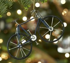 Cycle Ornament #potterybarn Christmas Fashion, Christmas Love, Christmas Decor, Merry Christmas, Bicycle Art, Bicycle Decor, Modern Outdoor Furniture, Inexpensive Gift, Top Gifts