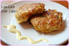 Low Carb Crab Cake with Mustard Sauce, may swap crab for salmon and make salmon patties
