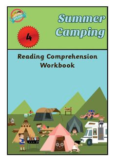 Reading Comprehension Workbook - Summer Camping – Splash Resources Reading Comprehension, Camping, Summer, Movie Posters, Products, Campsite, Summer Time, Film Poster, Reading Response