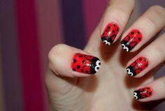 Lady Bug Nails :)