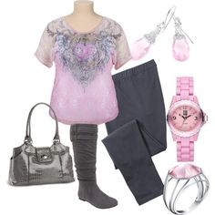 Lazy Sunday - Plus Size by intcon on Polyvore