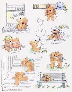 Vintage Hallmark Stickers Mint Condition!! Valentine's Day Teddy Bear