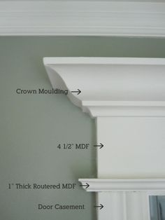 Woodworking Ideas House anatomy of trim moulding --for the kitchen/living room doorway.Woodworking Ideas House anatomy of trim moulding --for the kitchen/living room doorway Window Trim, House Design, Home Projects, Home, Diy Home Improvement, Home Remodeling, House Interior, Moldings And Trim, Door Trims