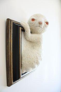 Felt works by Zoë Williams Textile Sculpture, Soft Sculpture, Textile Art, Macabre Decor, Needle Felted, Felted Wool, Felted Scarf, Nuno Felting, Wool Felt