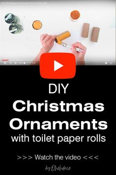Have fun making Christmas ornaments with toilet paper roll. This easy Christmas craft is perfect for adults and kids. Reuse toilet rolls to make pretty star-shaped ornaments. They are very simple to make. Match them to your winter decor by painting them the colors you like. Try this super easy DIY Christmas tree decoration.#holidays #recycle #cardboard