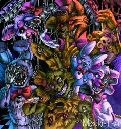 There is my darlings! Springtrap: To tell the truth, at first I didn't like him. But one day I noticed how beautiful and deep eyes he has. Then I fell in love him. Withered Bonnie: I love his desig...