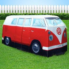 VW C&er Van Tent Full Size RED Volkswagon Replica C&ervan 4 person Kombi great price and save over dollars at & VW CAMPERVAN TENT VOLKSWAGON LICENSED 1965 KOMBI VAN CHOOSE FROM 5 ...