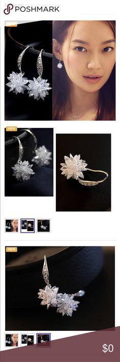 🌟🌟Silver  Frost Ice Flower Stud Earrings🌟🌟 925 Silver Earrings Frost Ice Flower Stud Women Earrings Jewelry Earrings