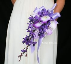 Purple Orchid Wedding Flowers