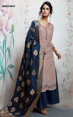 Periwinkle Purple Uppada Silk Dress Material Online Shopping For Ethnic Wear: Buy Designer Sarees, Lehengas, Anarkali suits, Salwar Suits,Kurtis,Gowns – Meenabazaar.com