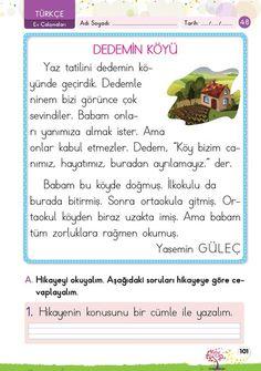 1. Sınıf Konu Anlatım EV ÇALIŞMALARI Learn Turkish, Classroom Rules, Baby List, Learning Arabic, Homeschool, Language, Education, Reading, Books