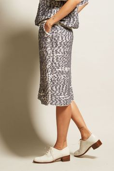 Boboutic Crust Skirt in Ivory/Grey