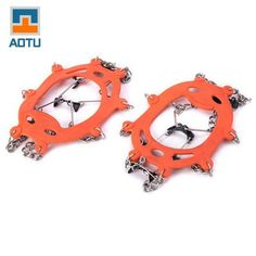 AOTU Climbing Crampons Boots Chain with 8 Teeth Spikes #shoes, #jewelry, #women, #men, #hats, #watches, #belts