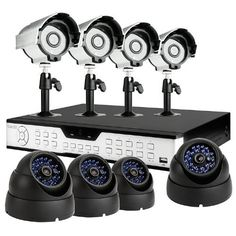 ZMODO 16CH H.264 DVR Security Surveillance System with 4 Sony CCD Outdoor Bullet Cameras and 4 Dome Sony CCD 65ft Night Vision Security Cameras-No Hard Drive by ZMODO. $305.99. Overview This kit includes a 16CH H.264 standalone DVR and eight night vision outdoor security cameras providing everything you need to have your surveillance system up and running in your home or business quickly and easily.   DVR Features * Plug-n-Play * Record: 240 fps * Display: 240 fps * Emb...
