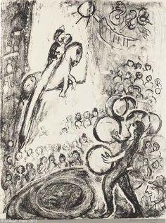 CHAGALL Marc, 1887-1985 (Rus. / FRA) Title : Cheval volant et Jongleur  Date : 1956