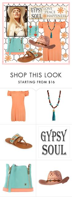"""""""Gypsy Soul."""" by tjclay3 ❤ liked on Polyvore featuring WearAll, Rachel Reinhardt, Skemo, MYSUELLY, Betsey Johnson, boho and hats"""
