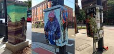 In Ann Arbor - we line our power boxes with art by local artists!