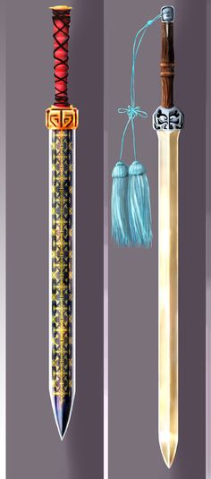 Chinese Sword Design (Han Sword/Tassel Jian) by sam1027
