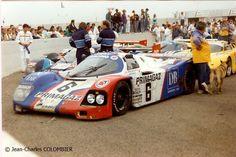 Henri Pescarolo / Jean-Louis Ricci / Jacques Laffite - Porsche 962C - Joest Porsche Racing - LVIII Grand Prix d´Endurance les 24 Heures du Mans 1990 - Non championship race