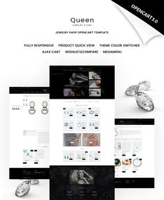 OpenCart Template , Queen - Jewelry Store
