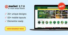 Design 26 Ready in eMarket – Homepage Design, Web Design, Wordpress Theme, Ecommerce, New Experience, Marketing, News, Design Web, E Commerce