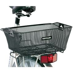 Kettler Rear Basket for Bikes with Luggage Racks, Black