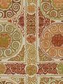 Robert Allen fabric pattern  rio swirl saffron repeat