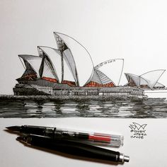 Sydney Opera House #freehand #sketch #drawing #architecture #sydney #opera #newsouthwales #australia #jørnutzon #arquitetapage #arqsketch #architecturesketch