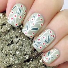 Dark department is pure and fresh plant hand draw Winter Holidays, Nails Inspiration, Artist At Work, Fun Nails, How To Draw Hands, Nail Designs, Nail Art, Pure Products, Photo And Video