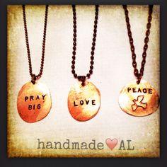 Find Penny Powers Jewelry page on FB!  Custom made necklaces make great gifts!