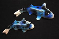 2 Pcs. Figurine Miniature Ceramic Carp Fish Animal Collectible Gift #12