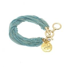 Seabreeze Bracelet in Gold/Teal
