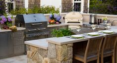 The Most Powerful Professional BBQ Grills -- Here are the highest BTU bbq grills on the market today featuring @Kalamazoo Outdoor Gourmet, #Lynx, #Alfresco, #Wolf and the @Weber Grills Summit