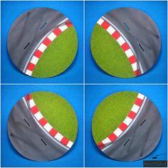"""Diorama """"Track Curve"""". 1/32 scale  #slot #slotcar #scalemodel #scalextric #dtm #wec #wtcc #diorama #scenary #base #curva #circuito #track #dreamcar #peana Slot, Scale, Track, Circuit, Dioramas, Curves, Weighing Scale, Runway, Truck"""