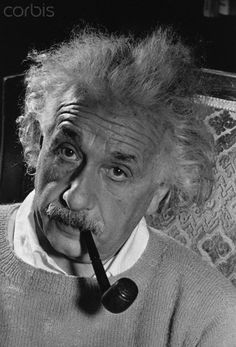 Einstein: serious, curious, passionate, playful. And genius.